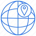 globe, internet, navigation, world icon