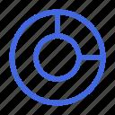 analytics, chart, diagram, donut, graph, statistic icon