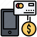 card, method, mobile, money, payment, phone, smartphone icon