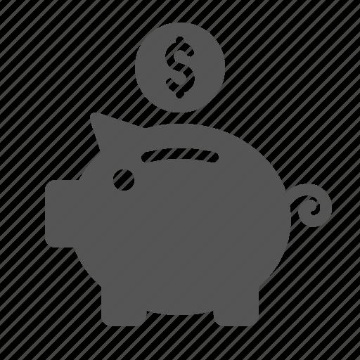 bank, coins, finance, piggy, piggy bank, save icon