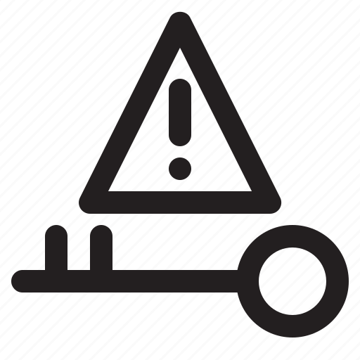 alert, key, solution icon