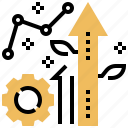 graph, growth, investment, revenue, rich icon