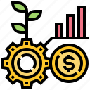 analysis, benefit, business, graph, growth icon