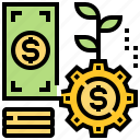 banking, financial, growth, investment, money icon