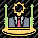 businessman, goal, growth, leadership, success