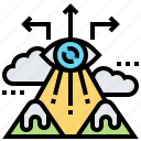 focus, mission, search, target, vision icon