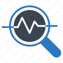 analysis, glass, magnifier, research, study icon