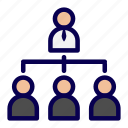 business, company, organizational, structure icon