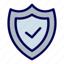checkmark, safety, shield, tick, trust icon