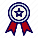 award, badge, medal, reward, ribbon icon