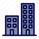 apartment, building, business, office icon
