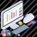 business analytics, business data, business infographic, data chart, data monitoring, online analytics icon