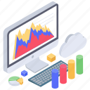 business analytics, business infographic, cloud computing, data chart, data monitoring, mountain chart, online statistics icon