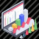 business analytics, business growth, data chart, data infographic, online statistics icon