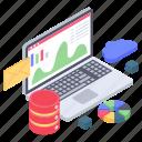 business analytics, business infographic, cloud computing, cloud data analytics, data monitoring, data storage, online statistics icon