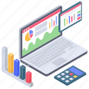 budget, business analytics, business calculation, business infographic, data chart, data monitoring, online statistics icon
