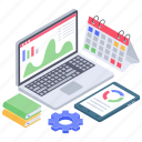 analytics, business data, data chart, data report, project analysis, project development, project planning icon
