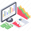 business data, business infographic, data report, financial analysis, financial data chart, online analytics icon