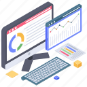 business data, business infographic, data chart, online analytics, statistics, website analytics icon