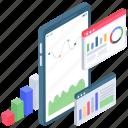 app analytics, business analytics, business app, business infographic, data chart, data monitoring, online statistics icon