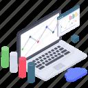 business analytics, business infographic, data chart, market analytics, statistics, trend chart icon