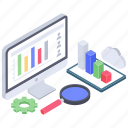business analytics, business data, business infographic, data chart, data monitoring, online analytics icon