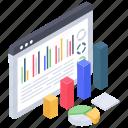 business data, business infographic, data chart, data monitoring, data report, online analytics icon
