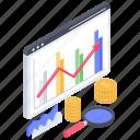 business analytics, business infographic, data chart, market analysis, statistics, trend chart icon