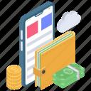 banking app, finance chart, finance savings, online analytics, online banking icon