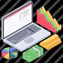 business data, business infographic, data report, financial analytics, financial data chart, online analytics icon