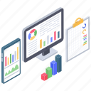 business data, business infographic, business report, data chart, online analytics icon