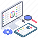 business data, business infographic, data review, online analytics, sales report, statistical analysis icon