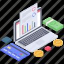 business data, business infographic, data chart, data report, financial analytics, online analytics icon
