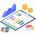 business data, business infographic, business report, finance monitoring, financial analytics, financial infographic icon