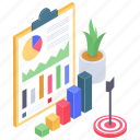 business analytics, business goal, business infographic, business target, data report, financial analytics, statistics icon