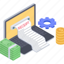 bill, business report, financial document, sale invoice, sales receipt, sales report icon