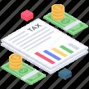 bill, budget, sales invoice, tax document, tax payment, tax report icon