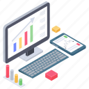 business data, business growth, business infographic, data chart, online analytics icon