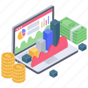 business data, business infographic, business report, financial analytics, financial data chart, financial infographic icon