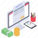 bill, business report, financial document, payment invoice, sale invoice, sales receipt, sales report icon