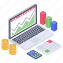 business data, business infographic, finance monitoring, financial analytics, online analytics icon