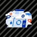 business, cloud, computing, graph, internet, online