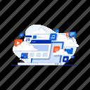cloud, computing, database, disk, storage, upload