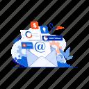 communication, email, interface, marketing, message, seo