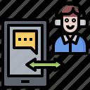 call, chat, conversation, customer, phone, talk, user icon