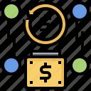 cash, coin, coins, dollar, finance, investment, money icon
