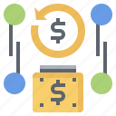 cash, coin, coins, dollar, finance, investment, money icon