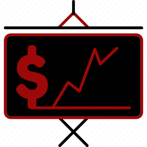 analytics, chart, doller, finance, graph, growth, sale icon