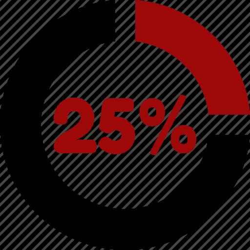 data, information, percent, twenty five icon