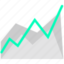 analytics, business, graph, growth, statistics icon